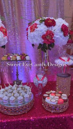 #pink #pinkdecor #desserttable #pinkparty #pinklove #sweeteyecandydesigns #pinkideas #partyideas #partydecorations #partyfavors #candytable