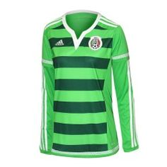 Jersey Adidas Fútbol Selección Mexicana Local Manga Larga 14 15 Mujer 32ffd6cfd798c