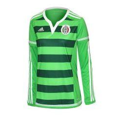 Jersey Adidas Fútbol Selección Mexicana Local Manga Larga 14/15 Mujer