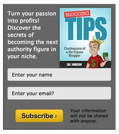 Turn your passion into profits! Discover the secrets of becoming the next authority figure in your niche. http://www.bloggingtips.com