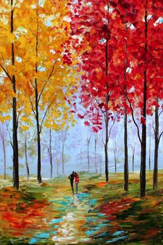 this is me absolute favorite artist. Leonid Afremov paints fantastic romantic textured paintings of couples walking