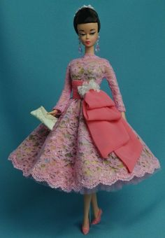 Silkstonr BArbie in Pink Frock Vintage Barbie Clothes, Doll Clothes, Fashion Dolls, Fashion Dresses, Women's Fashion, Barbie Convention, Barbie Wardrobe, Barbie Dress, Barbie Outfits