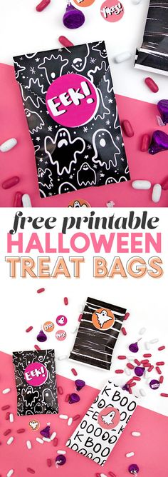 Do You Want Worldwide Vehicle Coverage? Diy Printable Treat Bags - Make Your Own Goodie Bags - Persia Lou Halloween Treats For Kids, Halloween Projects, Diy Halloween Decorations, Holidays Halloween, Halloween Gifts, Scary Halloween, Vintage Halloween, Halloween Ideas, Halloween Party
