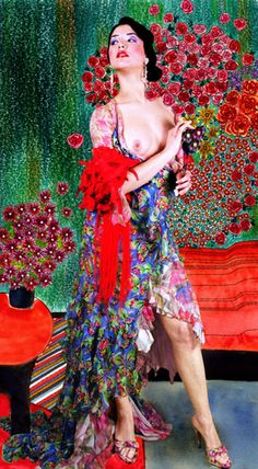 "Carol Gamarra & Mario Ville, ,Spanish fashion stilists (Kattaca) , photographed by Moisès Gonzales : ""La Esencia de Klimt = The Essence of Klimt "" -The Dancer , 2007 Gustav Klimt, Illustrations, Illustration Art, Art For Art Sake, Erotic Art, Art Pictures, Art Pics, Beautiful Paintings, Urban Art"