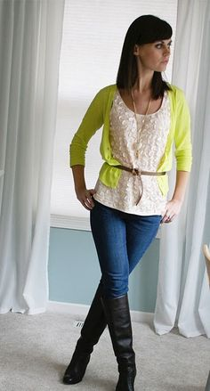 I could do this with my pink ruffle shirt and a colored cardigan #outfit