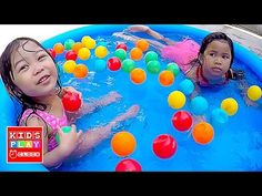 Kids Pool Fun BALLS - Ball PIT for Toddler - BAD BABY Elise and Zoe | Pl...