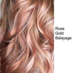 Rose Gold Balayage hair colour #haircolour #rosegold