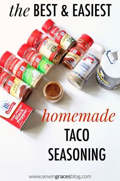 Seven Graces: The Best Homemade Taco Seasoning