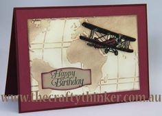Stampin' Up!, Sky is the limit, Sale-A-Bration, letterpress technique, aircraft