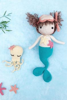 You can find the best amigurumi doll patterns and free recipes on our website.Our shares are waiting for you with the highest quality visuals. Doll Patterns Free, Amigurumi Patterns, Amigurumi Doll, Free Pattern, Crochet Patterns, Crochet Toys, Free Crochet, Mermaid Dolls, Cute Teddy Bears