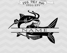 Catfish Tattoo, Flower Svg, Cricut Tutorials, Coloring Pages, Fishing, Drawings, Crafts, Character, Cnc