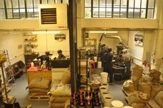 A bird's eye view of the Volcano Coffee Works roastery in Dulwich, London.