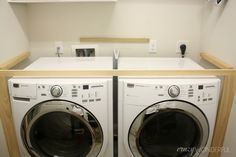 Crazy Wonderful: DIY built in washer + dryer