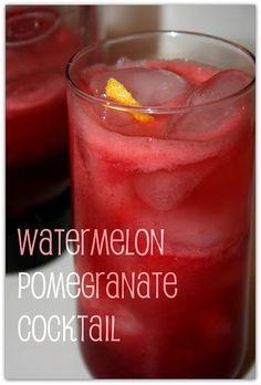 Deep South Dish: Weekend Cocktails - Watermelon Pomegranate Rum Cooler