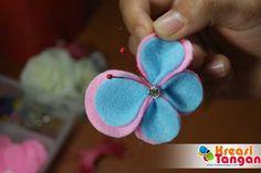 Tutorial Cara Membuat Bros kupu-kupu Dari Kain Flanel
