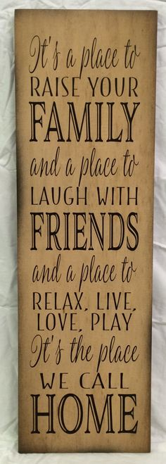 It's A Place Family Friends Home  Wood Sign or Canvas Wall Hanging - Christmas, Housewarming, Mother's Day, Birthday, Inspirational Design by HeartlandSigns on Etsy