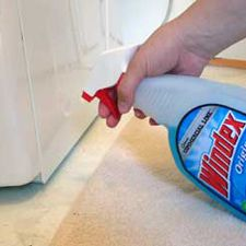 Move heavy appliances with Windex! Spraying a little Windex right in front of the feet means when you start to push it will slide with ease across your floor.