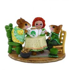 St. Patrick's Day | Miniature mouse by Wee Forest Folk®