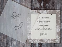 DIY vellum wedding invitation. Make your own wedding stationery with vellum overlay
