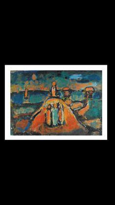 Georges Rouault - Paysage, 1949 - Gouache, ink, oil on paper - 49,5 x 69,5 cm