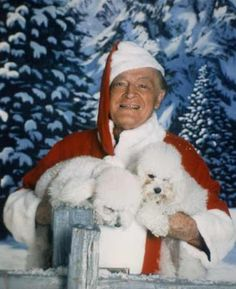 """Bob Hope and two poodles. """"When we recall Christmas past, we usually find that the simplest things - not the great occasions - give off the greatest glow of happiness. Christmas Past, Christmas Images, All Things Christmas, Vintage Christmas, Vintage Hollywood, Classic Hollywood, In Hollywood, Bob Hope, Thanks For The Memories"""