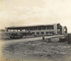 Destroyed hangars at Pearl Harbor, Hickam Field