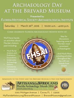 Come back and see us for FHSAI Archaeology Day to enjoy hands-on archaeological activities andcomplimentary admission to the museum