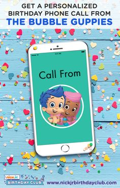Get everything you need to plan a Bubble Guppies birthday party for your child: A personalized birthday call from the Bubble Guppies Free printable party goods Recipes Party Ideas Crafts and much more!