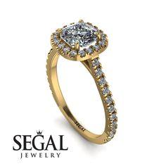Cushion Diamond Halo Engagement Ring - Jade No. Gold Diamond Rings, Diamond Wedding Rings, Cushion Diamond, Proposal Ring, Diamond Anniversary Rings, Diamond Sizes, Halo Diamond Engagement Ring, Unique Rings, Engagement Gifts