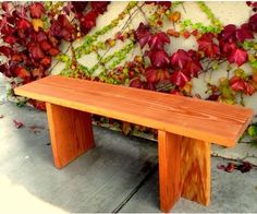 Handmade wood bench