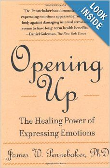Opening Up: The Healing Power of Expressing Emotions: James W. Pennebaker: 9781572302389: Amazon.com: Books