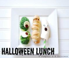 Fun kids lunch for Halloween
