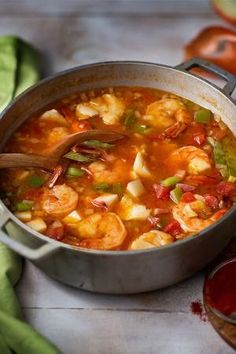 Looking for a new seafood recipe? This bright-red Hungarian Fisherman's soup is prepared with fish, bell peppers, tomatoes and spicy paprika. by tonya