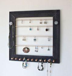 wall mount jewelry organizer ideas