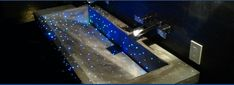 Galaxy Fiber Optic Concrete Sink.