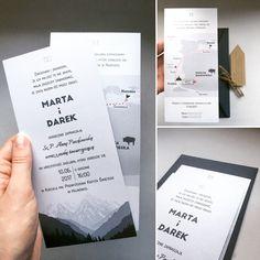 Zaproszenia ślubne w górskim klimacie  Wedding invitations  #wesele #zaproszenia #ślub #wedding #invitations #moutains #góry #nature #design #modern