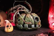 Primitive halloween zombie pumpkin OOAK horror ghost spooky tim burton creepy