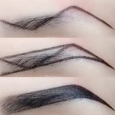 10 Eye Makeup Videos Ideas In 2019 Eyebrow Makeup Tips, Eye Makeup Steps, Contour Makeup, Permanent Makeup Eyebrows, Makeup Hacks, Eyeliner Hacks, Eye Brows, Mua Makeup, Makeup Eyes