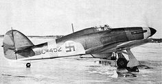 Finnish Air Force Hurricane Finnish government purchased 12 Hurricane fighters from Britain in early The Finnish aircraft were from the. Aircraft Propeller, Ww2 Aircraft, Fighter Aircraft, Military Aircraft, Finland Air, Finnish Air Force, Hawker Hurricane, Ww2 Planes, Luftwaffe