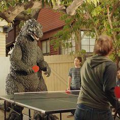 Ping Pong vs Godzilla