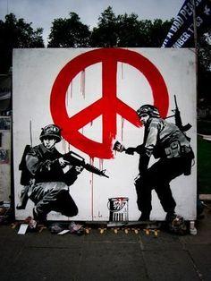 I banksy graffiti art
