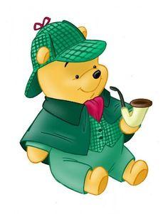 Winnie the Pooh as Sherlock Holmes.