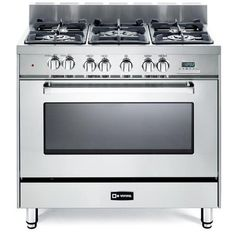"THE ONE. $2499. 36"" Verona 4 Cu. Ft Dual Fuel Convection Range in Stainless Steel & Reviews 