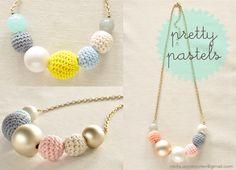 crochet bead necklaces