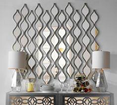 Single Silver Teardrop Panel Mirror, 6.25x58.75