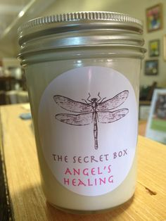 Angel's Healing, all natural soy candle - thesecretbox.net