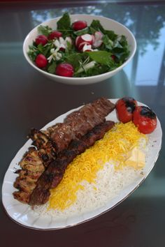 Different types of Iranian kebabs.Persian Cuisine.  For more delicious foods and recipes go to Multicultural cuisines' page on  https://www.facebook.com/M.Cuisines