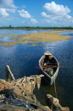 Delta del  Ebre  terreno ganado al mar con los sedimentos que arrastra el rio  Ebro www.NorthSpainVillas.com