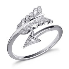 Simple Romantic Cupid's Arrow With Crystal Open Design Woman's Sterling Silver Ring #jewelry #fashionjewelrystores #jewelryfashion #fashionjewelrywebsites #discountfashionjewelry #fashioncostumejewelry #goldfashionjewelry #fashionjewelrystore #fashionjewelryaccessories #fashionjewelrysets #trendyfashionjewelry #newfashionjewelry #fashionjewelryearrings #fashionandjewelry #fashionjewelrymanufacturers #mensfashionjewelry #buyfashionjewelry #jewelryinfashion #highfashionjewelry…