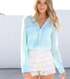 Fashion Good: Modelos de Shorts de Renda - Verão 2013